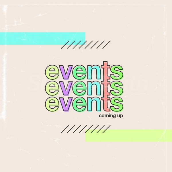 Events Colorful Social Media Graphic
