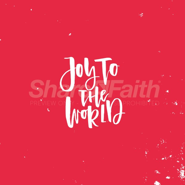 Joy To The World Red Social Media Graphic