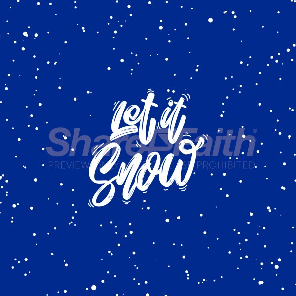 Let It Snow Blue Social Media Graphic