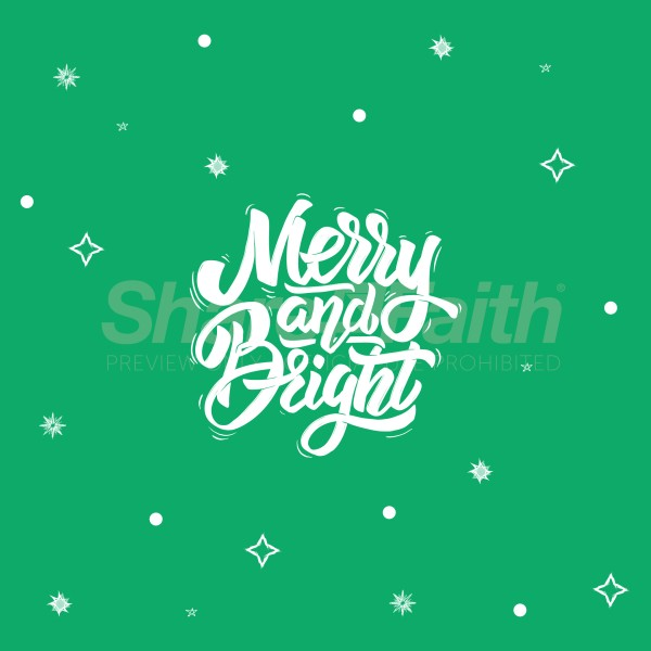Merry & Bright Social Media Graphic
