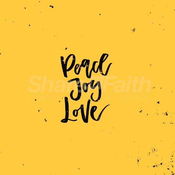 Peace Joy Love Social Media Graphic