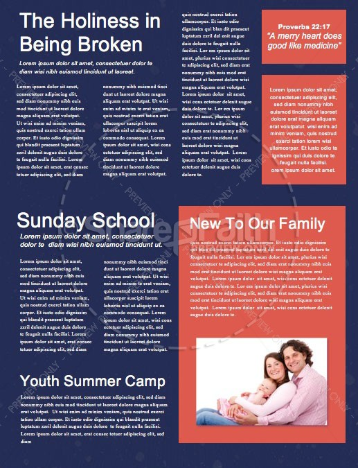 Different Kind Of Christmas Church Newsletter | page 2
