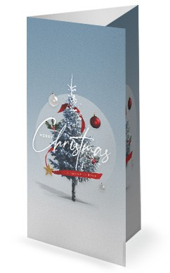 Merry Christmas White Christmas Church Trifold Bulletin