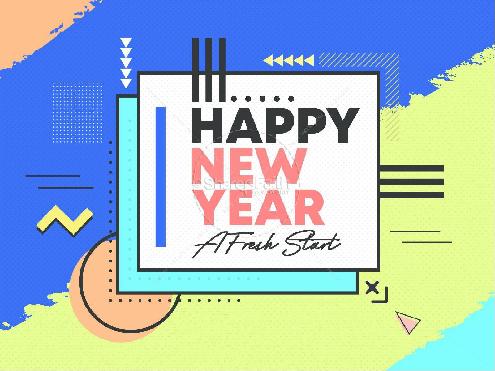 Happy New Year Fresh Start PowerPoint