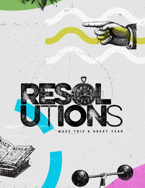 Resolutions Great Year Church Flyer