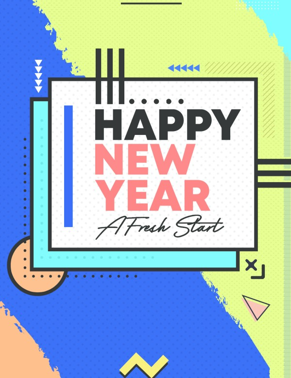 Happy New Year Fresh Start Church Flyer
