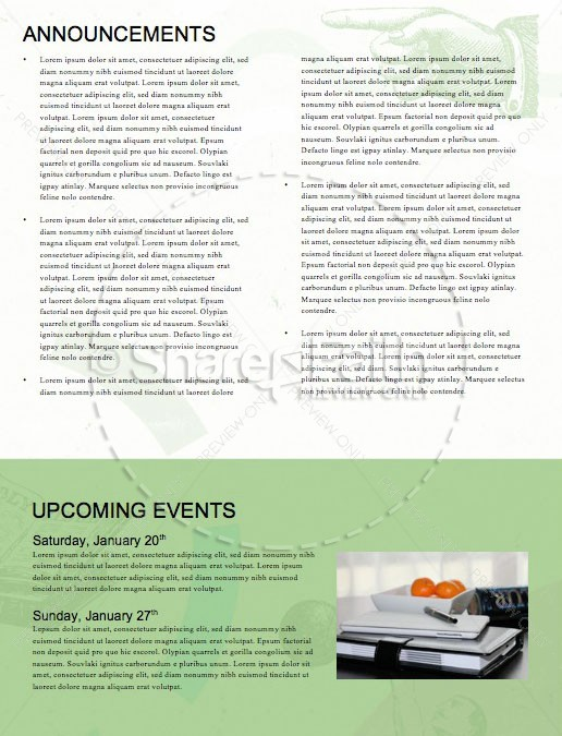 Resolutions Great Year Church Newsletter