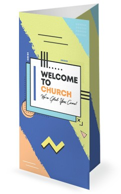 Happy New Year Fresh Start Church Trifold Bulletin