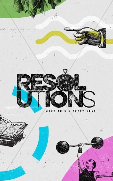 Resolutions Great Year Church Bifold Bulletin