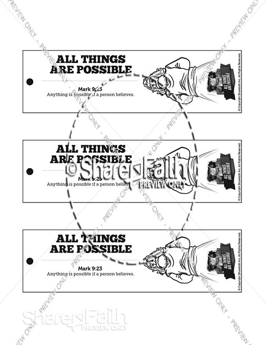 Mark 9 All Things Are Possible Bible Bookmarks
