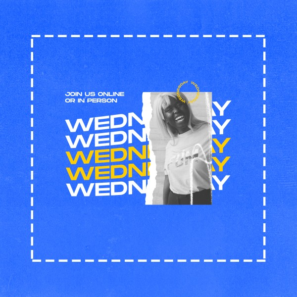 Wednesday Blue Social Media Graphic