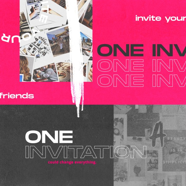One Invitation Social Media Graphic