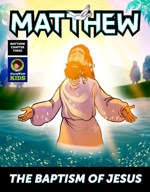 Matthew 3 The Baptism of Jesus Digital Comic