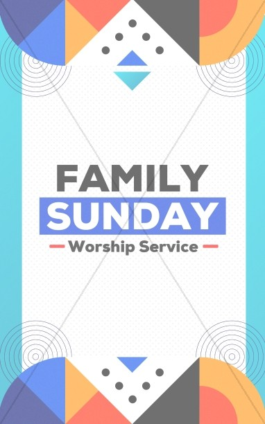 Family Sunday Worship Bifold Bulletin