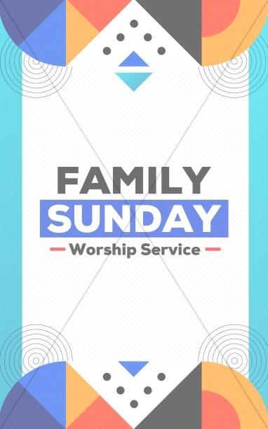 Family Sunday Worship Bifold Bulletin