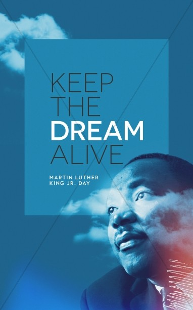 MLK Day Dream Church Bifold Bulletin