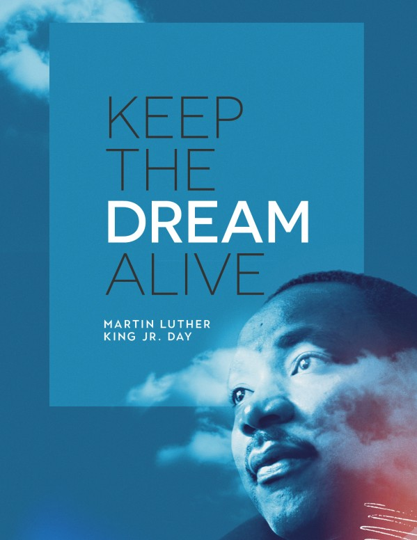 MLK Day Dream Church Flyer