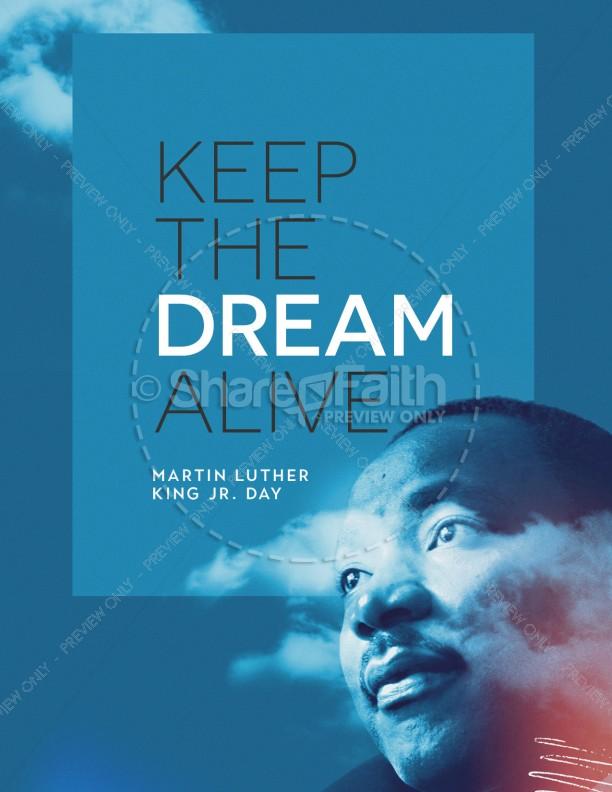 MLK Day Dream Church Flyer