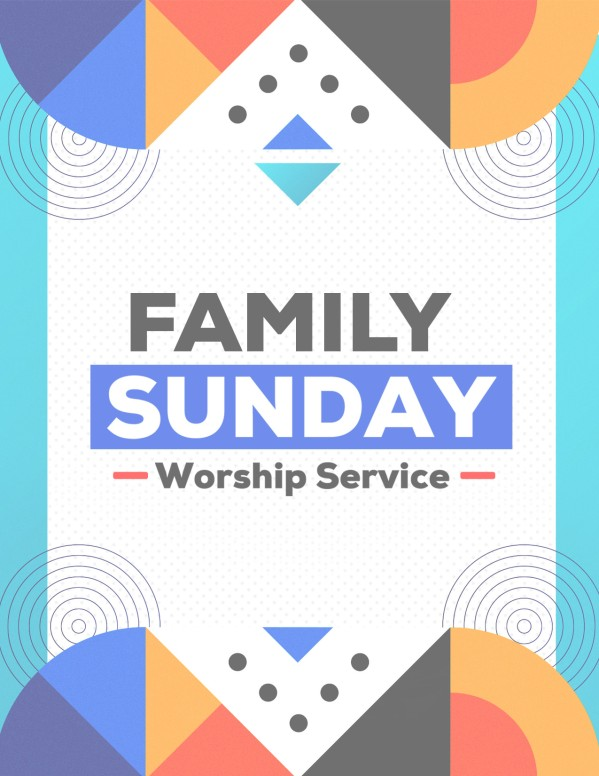 Family Sunday Worship Church Flyer