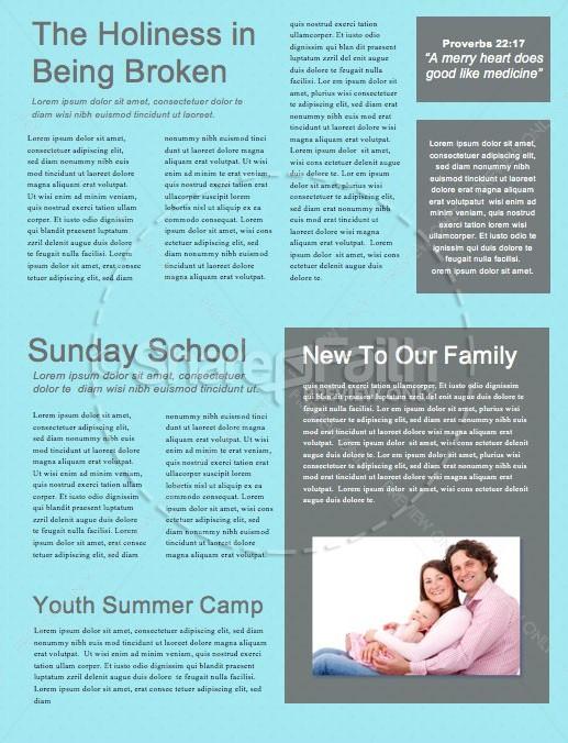 Family Sunday Worship Church Newsletter