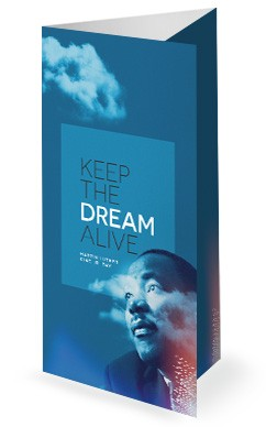 MLK Day Dream Church Trifold Bulletin