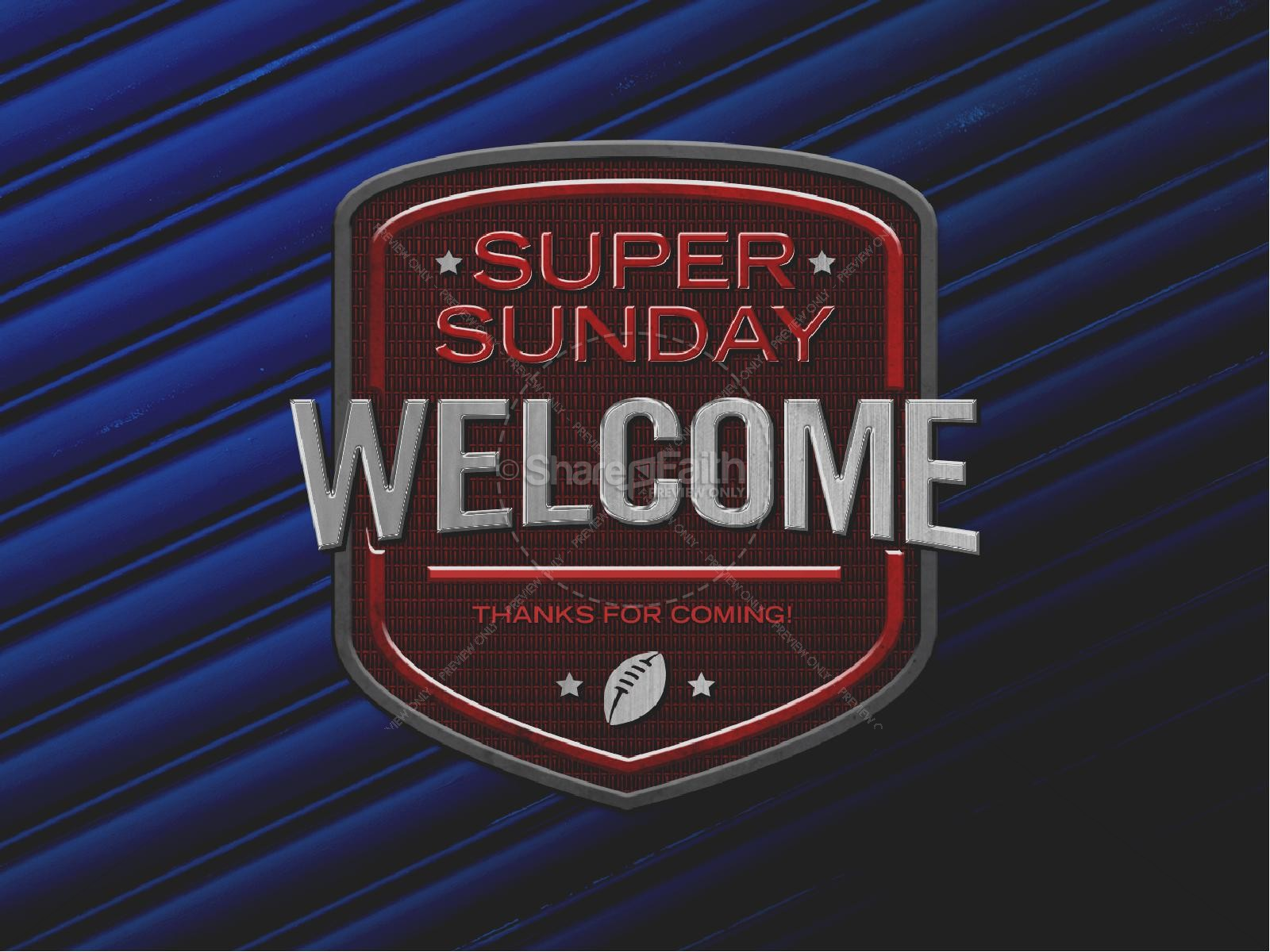 Super Sunday Blue Church PowerPoint | slide 2