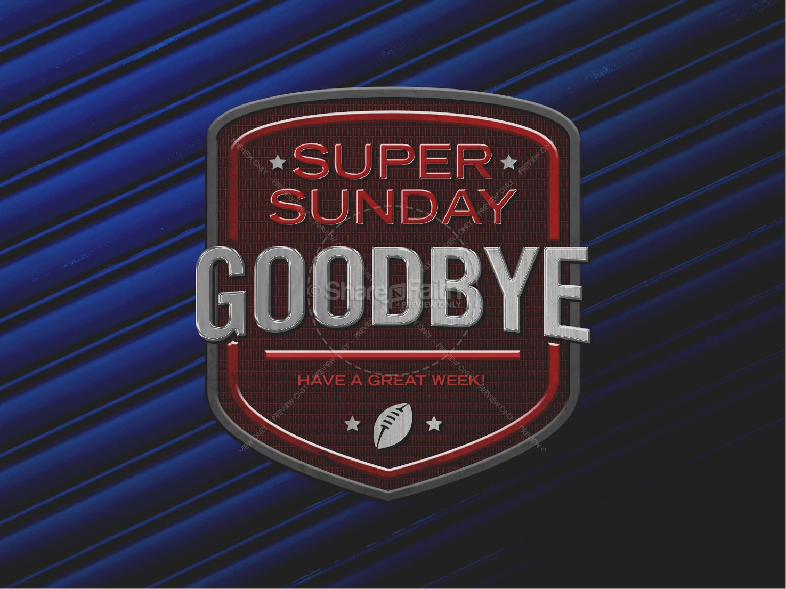 Super Sunday Blue Church PowerPoint | slide 4