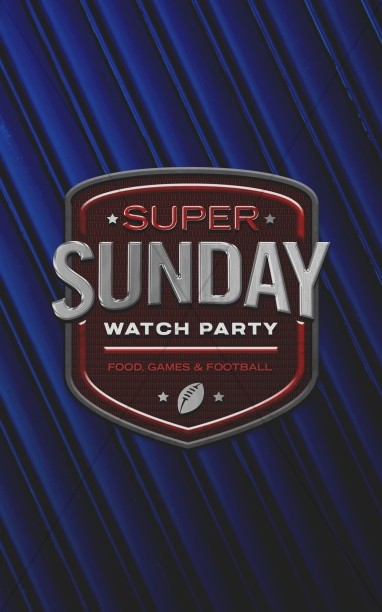Super Sunday Blue Church Bifold Bulletin