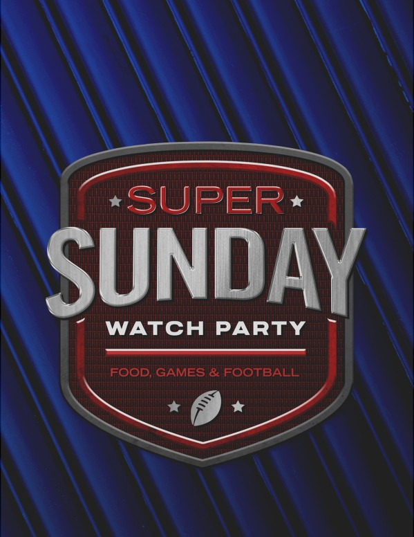 Super Sunday Blue Church Flyer
