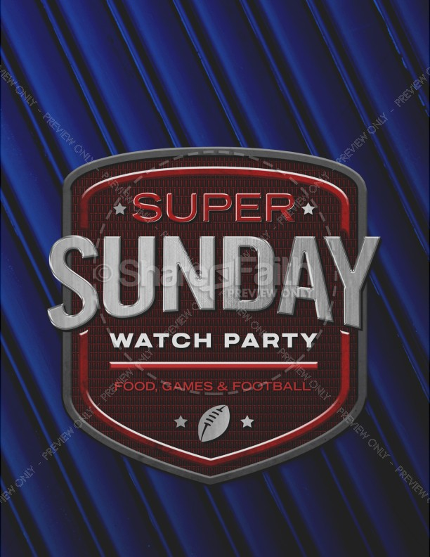 Super Sunday Blue Church Flyer