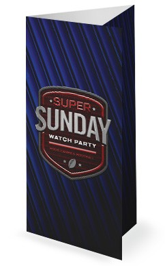 Super Sunday Blue Trifold Bulletin
