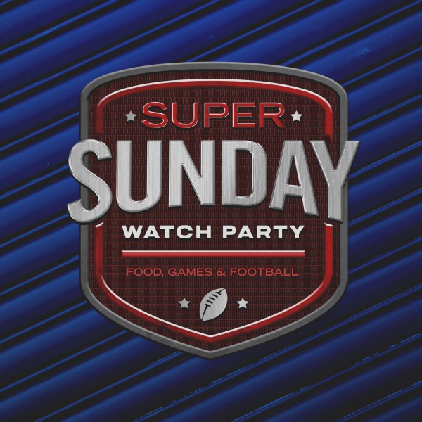 Super Sunday Blue Social Media Graphic