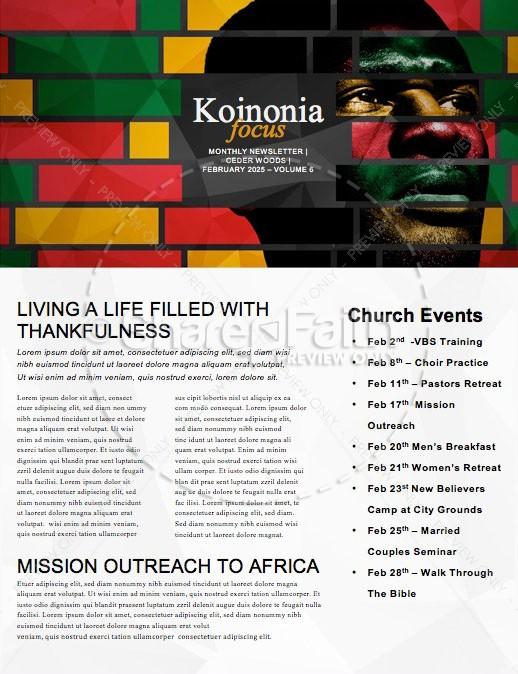 Black History Church Newsletter