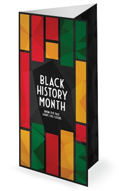 Black History Church Trifold Bulletin