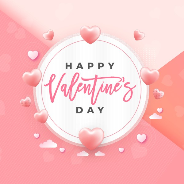 Valentine's Day Pink Social Media Graphic