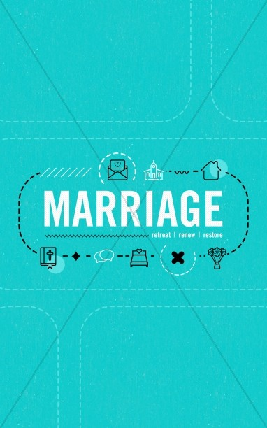 Marriage Retreat Church Bifold Bulletin