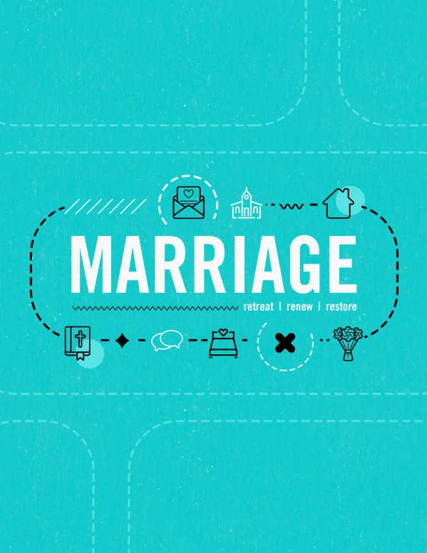 Marriage Retreat Church Flyer