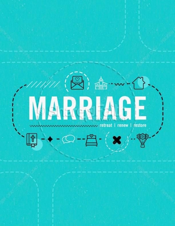 Marriage Retreat Church Flyer