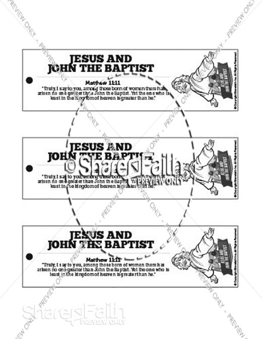 Matthew 11 Jesus and John the Baptist Bible Bookmarks