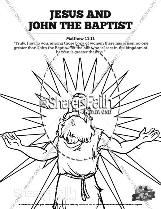 Matthew 11 Jesus and John the Baptist Sunday School Coloring Pages
