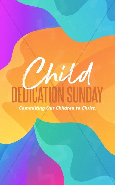 Child Dedication Sunday Church Bifold Bulletin