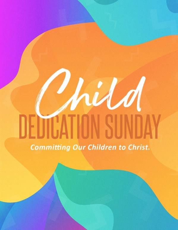 Child Dedication Sunday Church Flyer