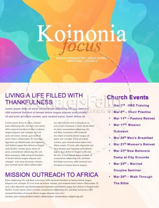 Child Dedication Sunday Church Newsletter
