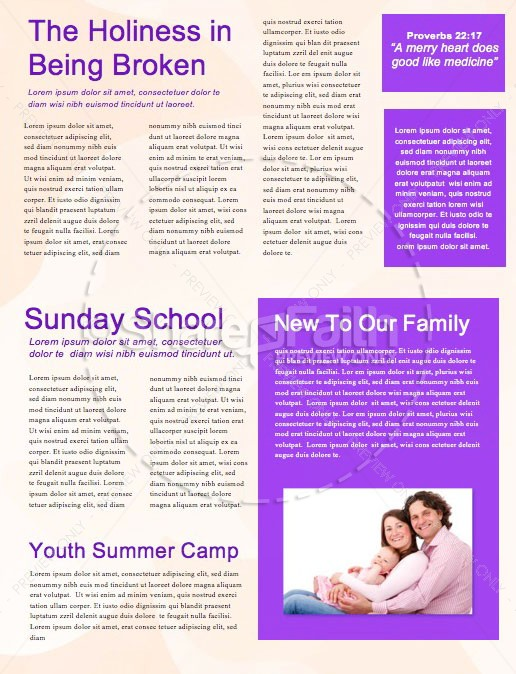 Child Dedication Sunday Church Newsletter