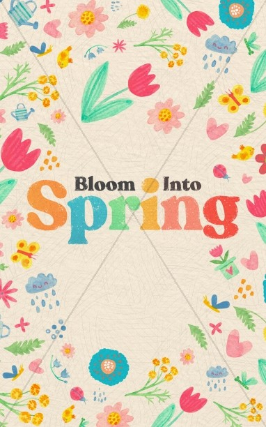 Spring Blooms Church Bifold Bulletin