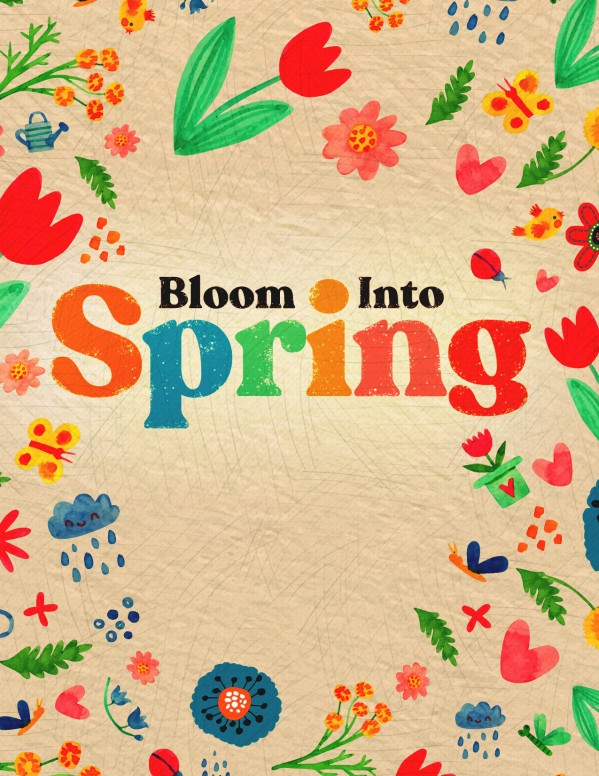 Spring Blooms Church Flyer