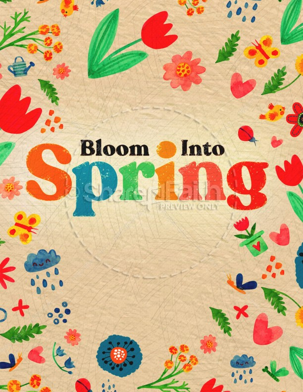 Spring Blooms Church Flyer | page 1