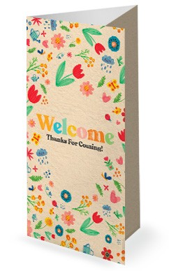 Spring Blooms Church Trifold Bulletin
