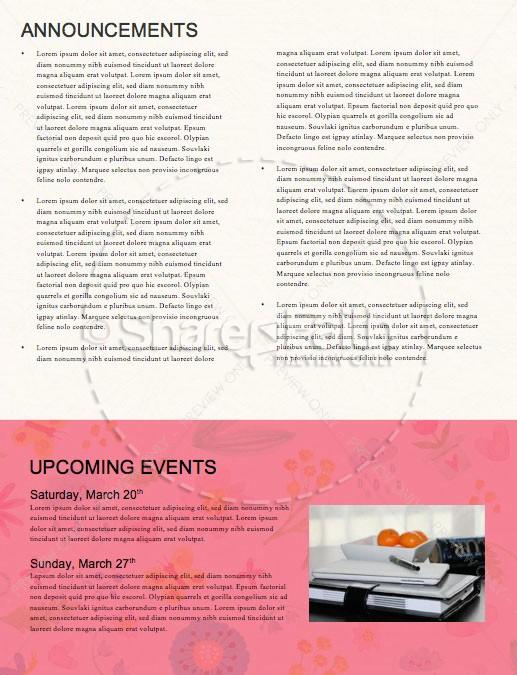 Spring Blooms Church Newsletter