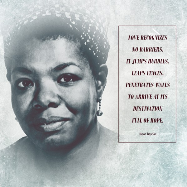 Maya Angelou Love Social Media Graphic